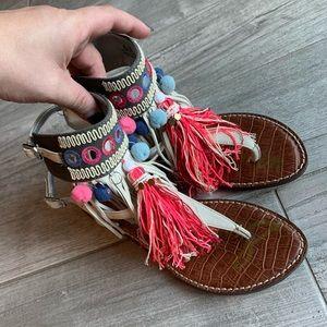 Sam Edelman Gere Embellished Pompom Sandals